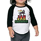 Jah Rastafari Lion Raggae Africa Unisex Kids 3/4 Sleeves Raglan T Shirts Child Youth Fit Sports Uniforms