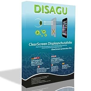 2 x Película de protección de pantalla DISAGU ClearScreen para Samsung N7005 Galaxy Note LTE antibacterial, filtro BlueLightCut película de protección