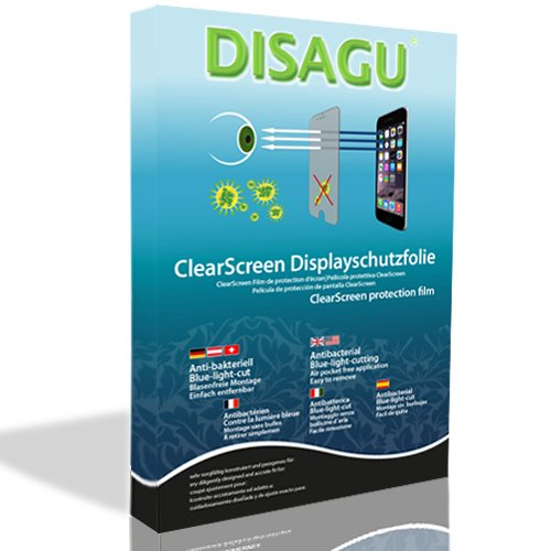 DISAGU ClearScreen screen protection film for Nintendo DSi XL antibacterial, BlueLight filter protective film