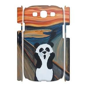 3D [Beautiful Panda] Panda Funny Case For Samsung Galaxy S3 {White}