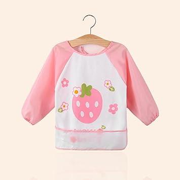 5b60dd899d1 YIFANFENGSHUN Enfants Vêtements De Peinture Tabliers Manches Longues Bébé  Nourriture Robe Imperméable Kindergarten Coton Bavoir