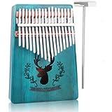 Kalimba 17 Keys Thumb Piano, Acacia KOA Thumb Instrument with Portable Bag, tuning hammer and study instruction for…