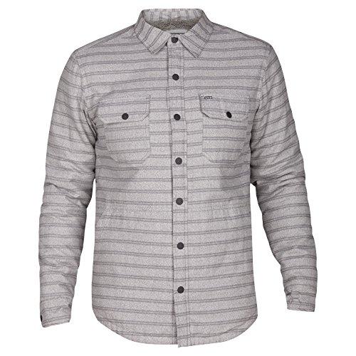 Hurley Rock - Hurley MJK0002110 Men's Dispatch Shacket Jacket, River Rock - XL