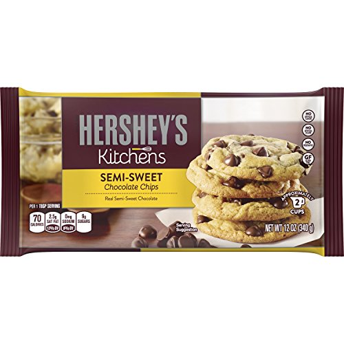 HERSHEY'S Kitchens Semi-Sweet Chocolate Chips, 12 Ounce (Pack of 6) (Sweet Chocolate Semi Bar)