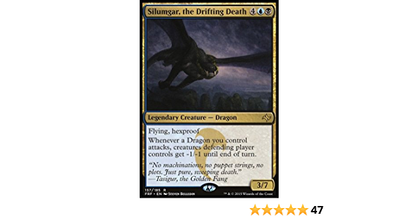 Foil Light Play 1x Silumgar English Fate Reforged MTG Mag the Drifting Death