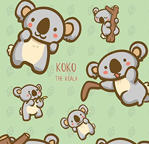 Koala Bear Craft - Koko The Koala Bear - Design Gift Wrapping Paper | for Baby Showers, Kids Birthdays, Christmas Gifts | Unique Unisex Print | Wrap A Birthday Parcel & Present | 5 Sheets | 20 x 28 Inches