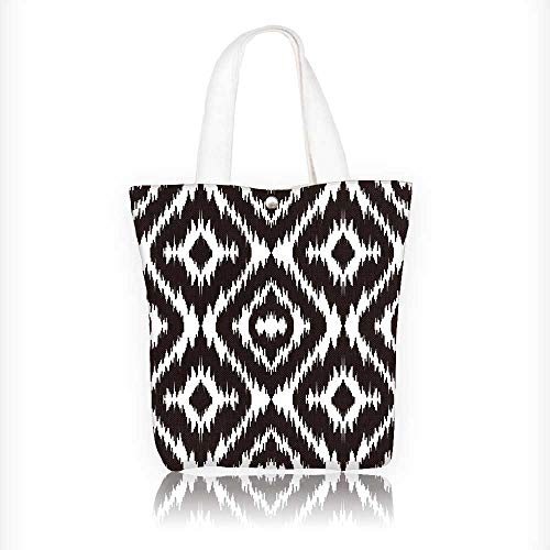 Stylish Canvas Zippered Tote Bag ethnic boho textile