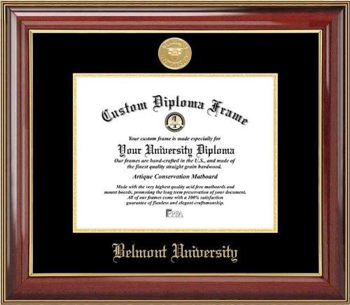 Belmont University Bruins - Gold Medallion - Mahogany Gold Trim (Panorama Laminated Poster)