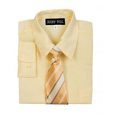 96e4689c Amazon.com: Avery Hill Boys Long Sleeve Dress Shirt with Windsor Tie ...