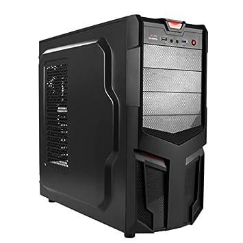 Mars Gaming MC115 - Caja de ordenador para gaming (personalizable para cada gamer, micro ATX, ventilador 12 cm, USB 2.0/3.0), negro: Amazon.es: Informática