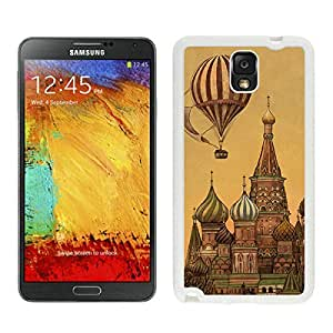linJUN FENGClassic Samsung Note 3 White TPU Case Top Art Design Durable Silicone Phone Cover