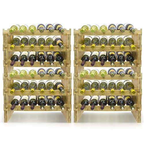 Sorbus 2-Tier Stackable Bamboo Wine Rack— Classic Style Wine Racks for Bottles— Perfect for Bar, Wine Cellar, Basement, Cabinet, Pantry, etc.—Holds 12 Bottles (2-Tier, Natural) by Sorbus (Image #7)