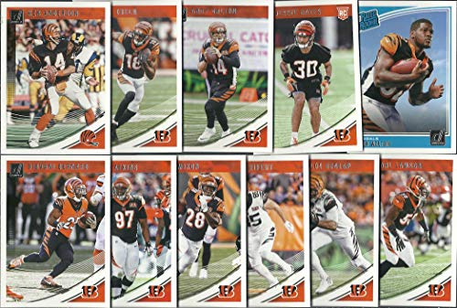 2018 Panini Donruss Football Cincinnati Bengals Team Set 11 Cards W/Drafted Rookies - Bengals Card