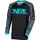 O'Neal Mens Mayhem Lite  Blocker Jersey (Black/Gray/Teal, Medium)