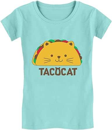 Tstars - Tacocat Spelled Backwards is Taco Cat Funny Girls' Fitted Kids T-Shirt