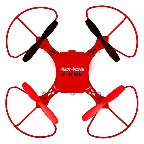 Swift Stream Indoor/Outdoor Z-6 CV Camera Drone, Red