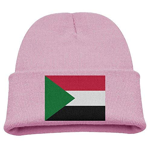 RS-pthrA4!!! Flag of Sudan Kid's Hats Winter Funny Soft Knit Beanie Cap Children Unisex (Milwaukee Brewers Rock)