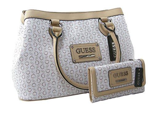 New Guess Purse Satchel Bag & Checkbook Wallet