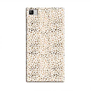 Cover It Up - Brown White Pebbles Mosaic Mi3 Hard Case