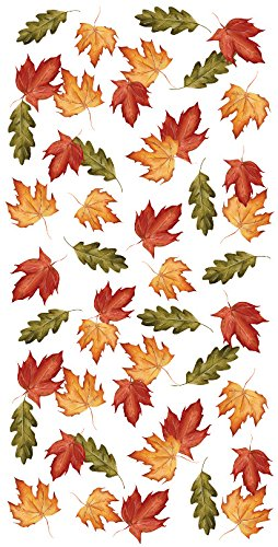 Creative Converting Fall Leaves Plastic Banquet Table Roll, 40 by 50