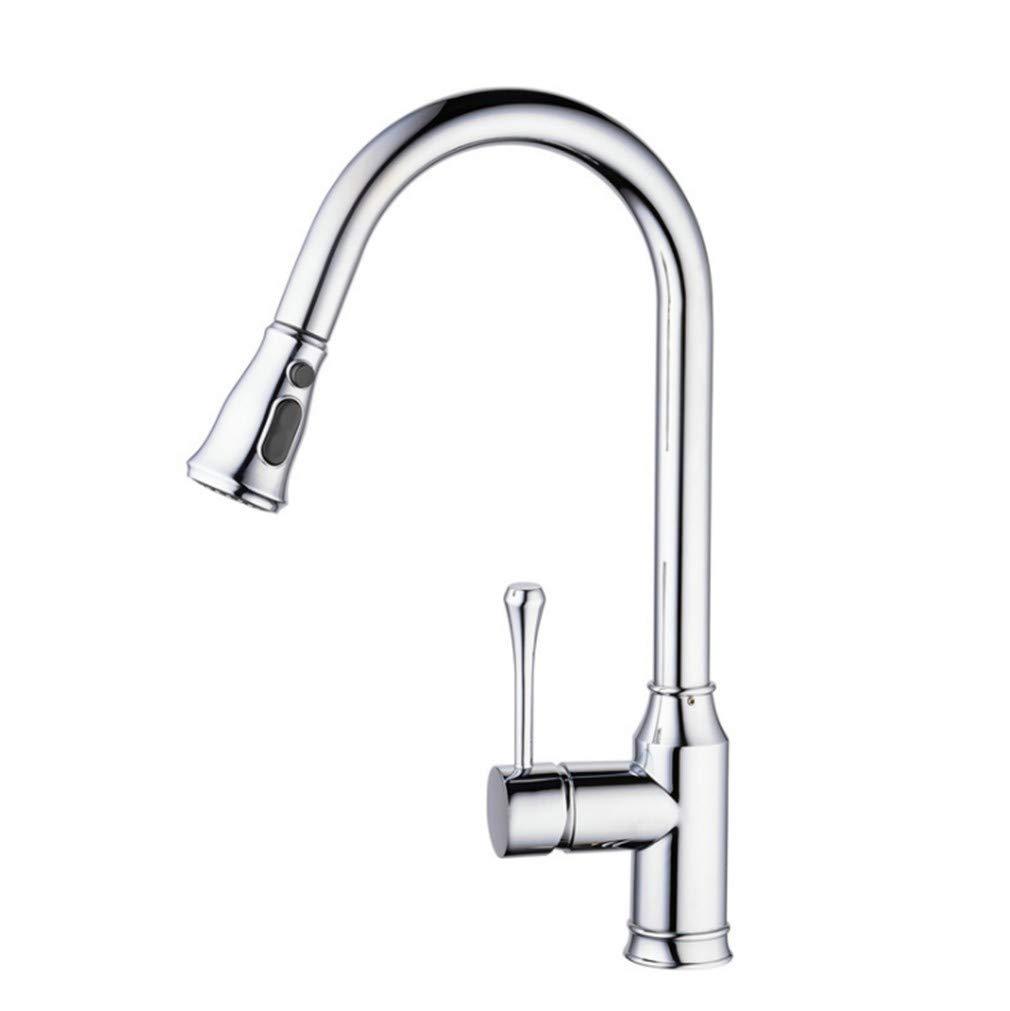 Edelstahl Einhand Wasserhähne Küche Küchenspülenhahn-Niederdruckkupferteleskop Der Küchentopfhahn Zieht