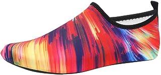 QUICKLYLY Zapatos De Agua Escarpines para Mujer/Hombre Buceo Snorkel Surf Yoga Zapatillas Playa Mar Deportes La Aire Libre Calzado Descalzo Barefoot Respirable Calcetines
