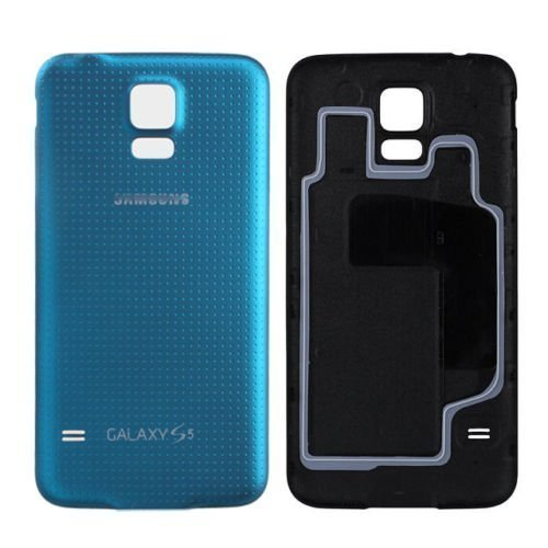 Original Battery Back Door Cover with Rubber Seal For Samsung Galaxy S5 blue ~ (Original Cover)