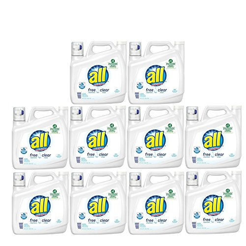 all Liquid Laundry Detergent, Stainlifters- Free & Clear - 141 oz (10 Pack)