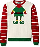 Ugly Christmas Sweater Mens Elf Head