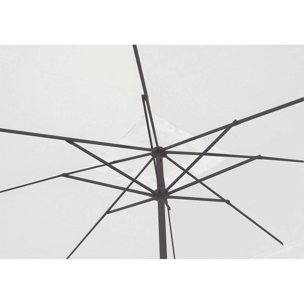 Ombrellone da Giardino in Alluminio 3X2m con Manovella Vorghini Stem Antracite e Ecr/ù