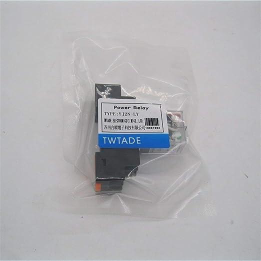 Taiss//AC 12 V Relais de puissance /électromagn/étique Bobine 10 A 2DPT 8 broches 2NO+2NC LY2NJ avec base prise YJTF08A-E YJ2N-LY