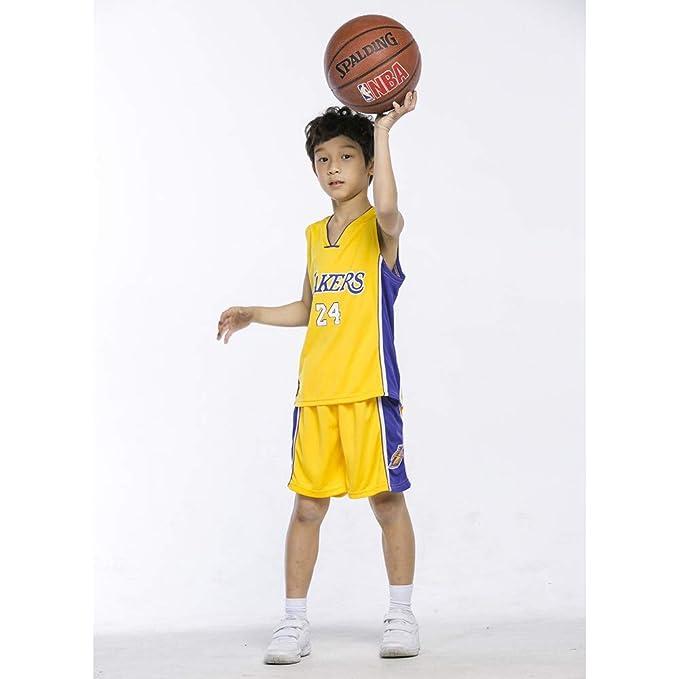 PAOFU-Chico Muchachas Jersey NBA Lakers 24# Kobe Bryant Camisetas ...