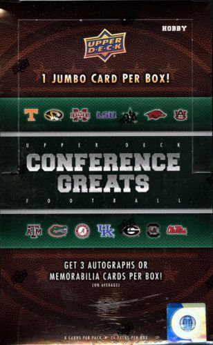 2014 Upper Deck SEC Conference Greats Football Hobby Box (2014 Deck Box Upper)