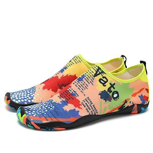 Z.suo Hombres Mujeres Y Niños Mutifunctional Pies Descalzos Zapatos De Piel De Agua De Secado Rápido Calcetines Aqua Para La Playa Swim Surf Yoga Ejercicio Mapa