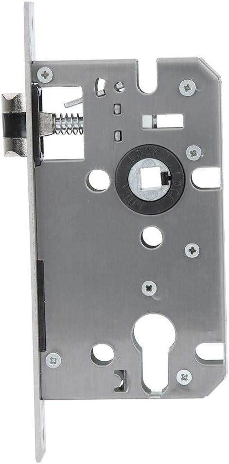 quincaillerie de porte serrure de porte silencieuse noire de style europ/éen avec poign/ée Serrure de porte avec poign/ée poign/ée de porte avec serrure et cl/é