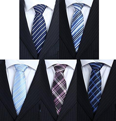 Premium Quality Tie By Set Of 5 Pcs With Mulitple Colors