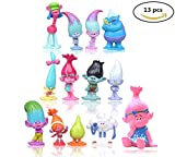 Toys : Max Fun Set of 13pcs Trolls dolls, 3-6cm Tall Movie Trolls Action Figures Cake toppers