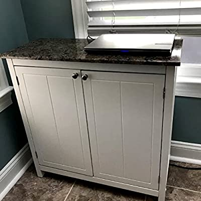 Amazon.com: Real Simple Kitchen Island from White Woood with ...