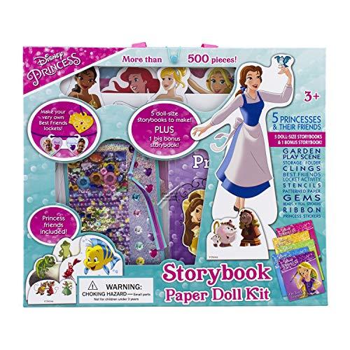 Disney Princess Paper Dolls - Disney Princess - Storybook Set and Paper Doll Kit with Over 500 Pieces! - PI Kids