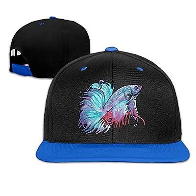 XHb9MZ-H9 Beta Fish Hip-Hop Baseball Cap Snapback Hats Solid Flat Bill Dad Hat Unisex (5colors,Adjustable)