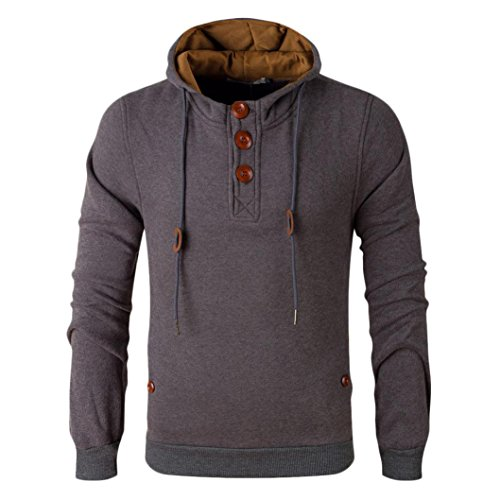 Hoodie Jacket Coat,Hemlock Men's Winter Sweater Coats Warm Windbreaker Outwear (M, Khaki)