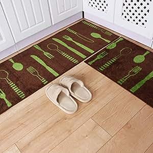 bmky Doormats largo salón cocina con Home alfombra polvo ventosa Hall de entrada casa puerta alfombrillas alfombrillas de mesita de noche dormitorio, B, 45 x 120 cm