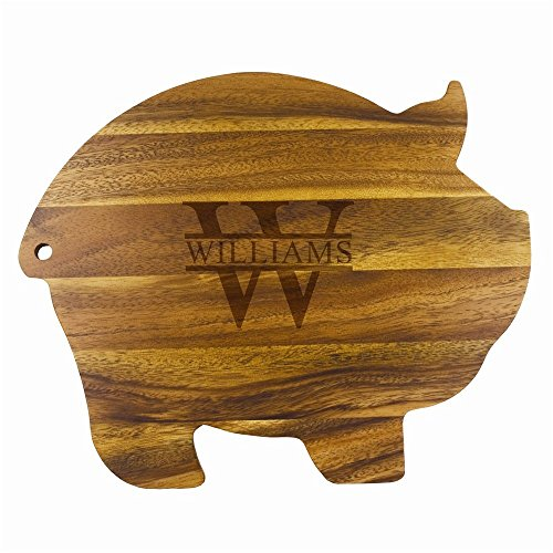 Biltmore Personalized Wood Pig Cutting Board | BBQ Fans (Cutting Pig Wood Board)
