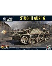 WarLord Bolt Action StuG III AUSF G G - Tanque de Pistola de Asalto alemán 1:56 de la Segunda Guerra Mundial de Guerra Mundial, Modelo de plástico