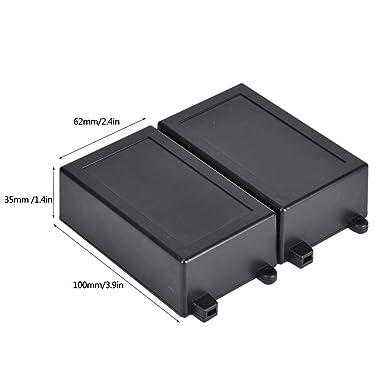 2Pcs Caja de proyecto electrónica Caja de proyecto de plástico ABS impermeable 100 x 62 x 35 mm Caja de caja de instrumentos para protección de placa de circuito: Amazon.es: Industria, empresas