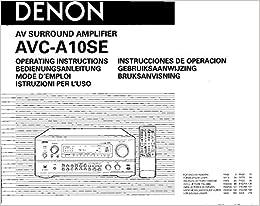 Denon avc-a10se service manual.