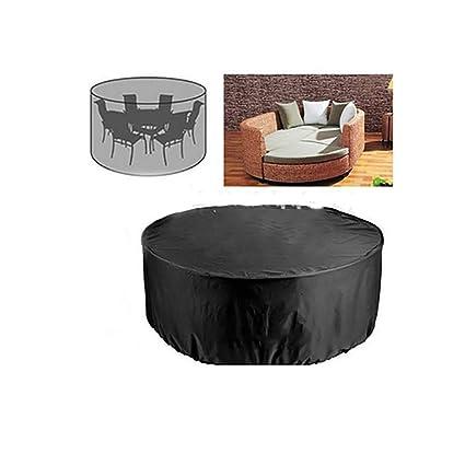 AY-cover Housses De Protection Pare-poussière pour Mobilier D\'extérieur,  Salon De Jardin Rond Housse De Table/Chaise/Canapé Crème Solaire  Imperméable ...