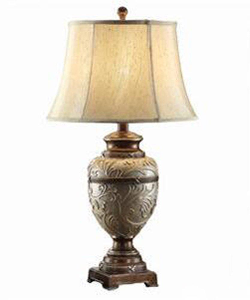 Retro Geschnitzt High-End-europäischen Und Amerikanischen Stil Salon Kreative Klassik Schlafzimmer Studie Dekorative Lampe