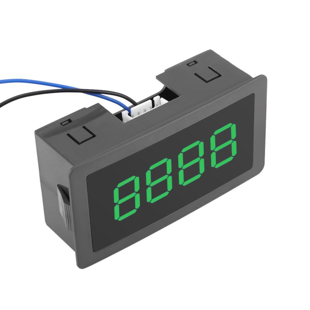 3 Farben DC 24V 4 Digit LED Digitalz/ähler 0-9999 Up//Down Plus//Minus Panel Z/ähler Meter mit Kabel Gr/ün