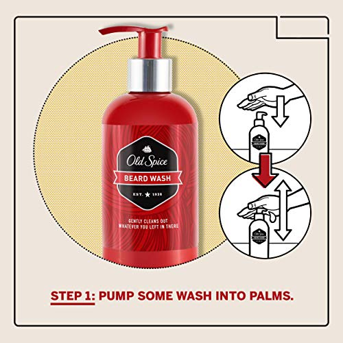 Old Spice, Beard Wash + Leave In Conditioner for Men, Beard Care & Grooming Kit, 6.8 oz + 5 oz